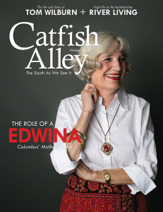 Columbus' Own Mother Goose graces the cover of Catfish Alley Magazine