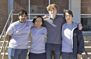 Mississippi School for Mathematics and Science students Dauttatreyo (Wrishi) Bandyopadhyay of Starkville; Nathan Barlow, of Starkville; Jason Necaise of Ridgeland; and Meilun Zhou of Oak Grove have been selected as candidates for the U.S. Presidential Scholar Award. Photo by: Courtesy photo