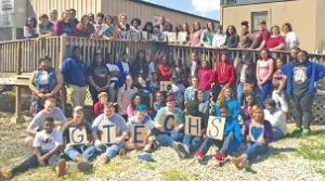 Rising sophomores enrolled in East Mississippi Community College's Golden Triangle Early High School pose along with school staff for a photo that accompanied acceptance letters to incoming freshmen who will start at the school in August. Photo by: Courtesy photo